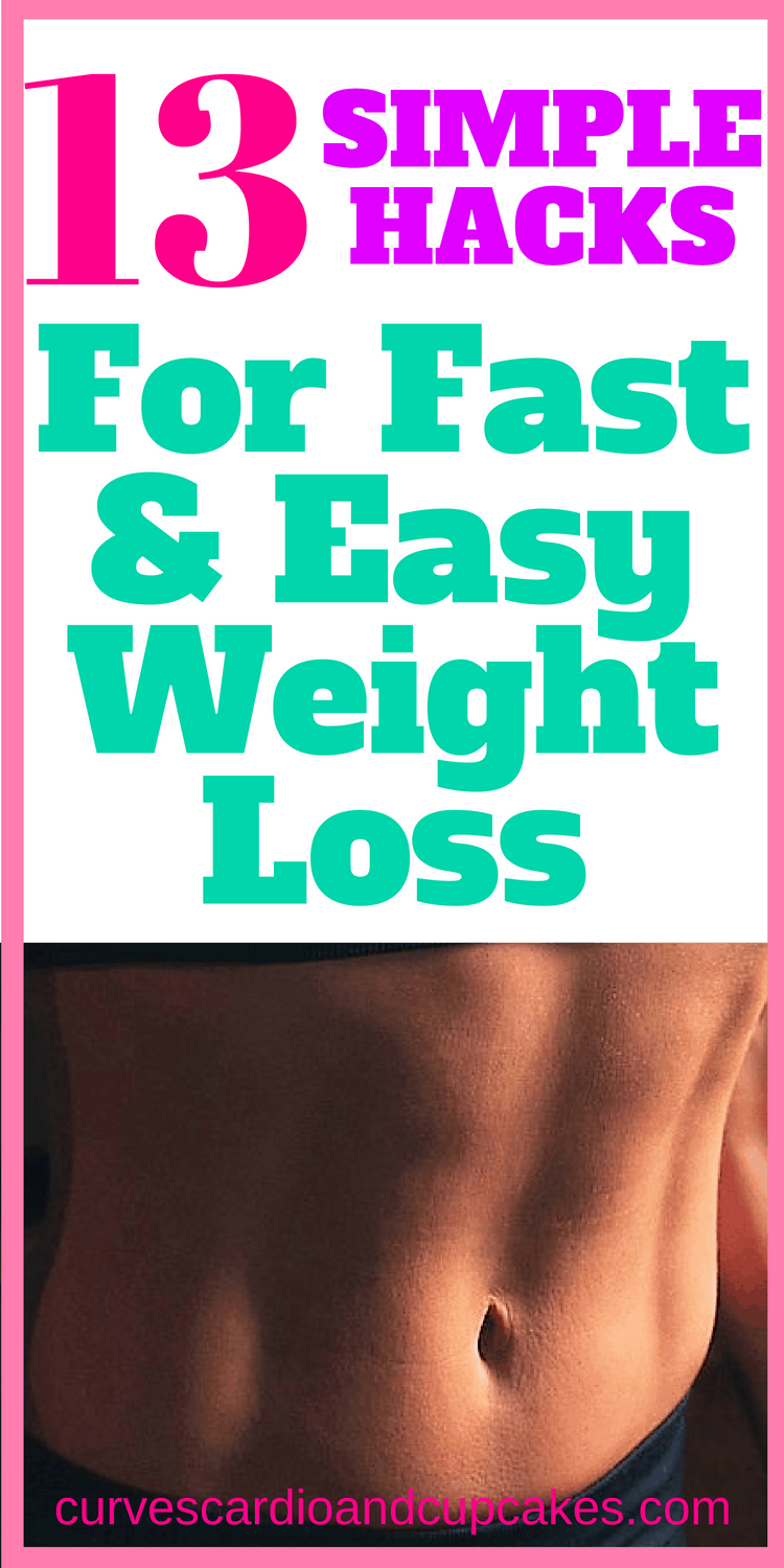 13 Simple weight loss tips and ideas to keep your motivation up, help you stick to your diet and keep with your healthy eating and fat burning.  Life hacks for how to lose weight with easy and fast weightloss tricks that will change your life!  Losing weight can be easy.  You don't need to struggle!
