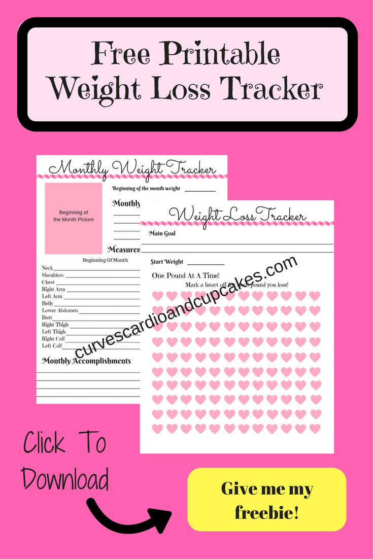 free weight loss tracker curves cardio and cupcakes